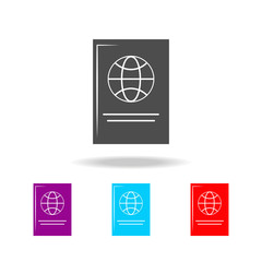 Passport icon. Elements of travel in multi colored icons. Premium quality graphic design icon. Simple icon for websites