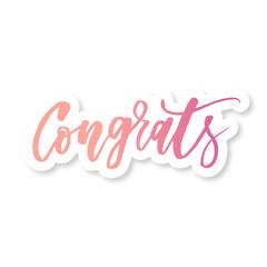 Congrats Vector Phrase Lettering Calligraphy Brush Sticker
