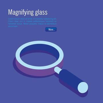 magnifying glass isometric icon vector illustration design