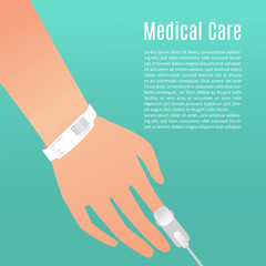 hospital patient hand