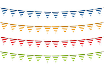 Illustration material: colorful triangle flag · party flag | border print, vector | vector data