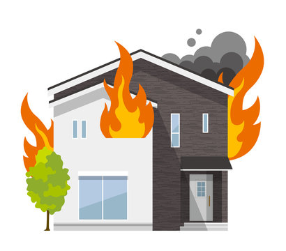 家、一軒家:火事、火災
