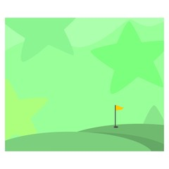 vast green golf yard landscape background scenery