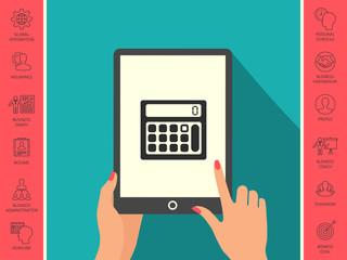 Calculator symbol icon