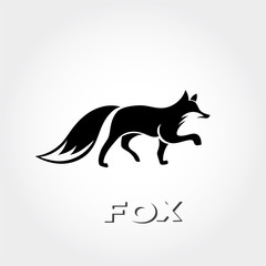 care full walking fox art logo