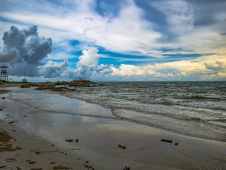 Beautiful Sky in Rayong Beach thailand