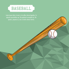 Baseball sport poster with information vector illustration graphic design