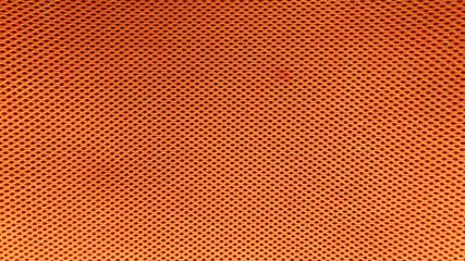 Orange nylon fabric pattern texture background.