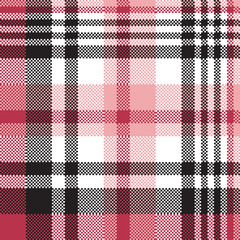 White pink color plaid seamless pattern