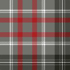 Gray check plaid pixel seamless pattern