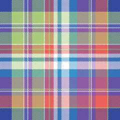 Madras pixel plaid seamless pattern