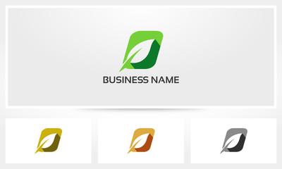 Letter O Leaf Environment Natural Logo