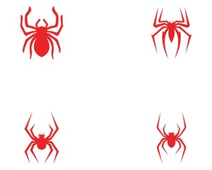 Spider logo and symbols template icons