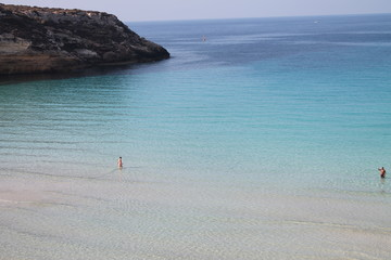 the wonderful island of Lampedusa in Italy