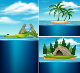 Collection of different islands