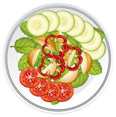 Top view of salad