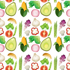 Seamless Fresh Vegetable Background