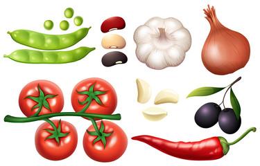 A Set of Fresh Vegetable