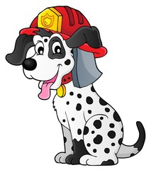 Poster For Kids Firefighter dog theme 1