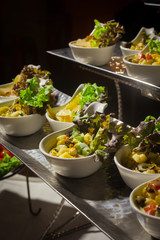 Buffet line in Wedding party