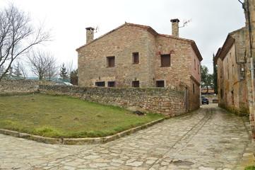 Beautiful Stone Houses On Our Walk  In The Village Of Medinaceli. Architecture, History, Travel. March 19, 2016. Medinaceli, Soria, Castilla Leon, Spain.