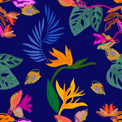 Tropical rainforest palette.