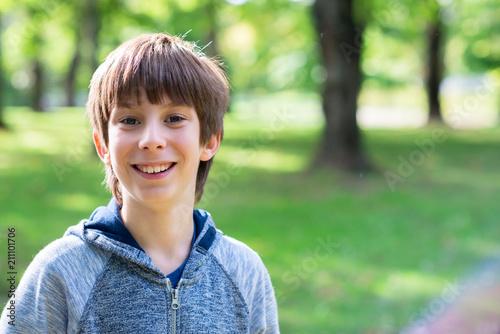 Handsome teens outdoor joy