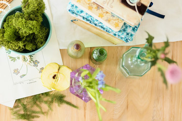 Beautiful decor wedding table, rustic style