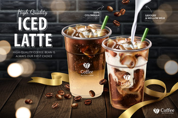 Iced latte ads