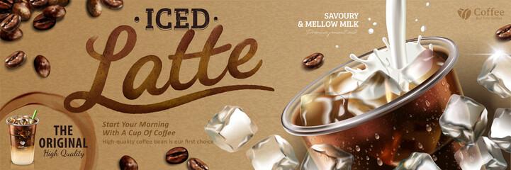 Iced latte banner ads