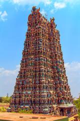 Photo sur Plexiglas Edifice religieux The famous temple of Meenakshi.