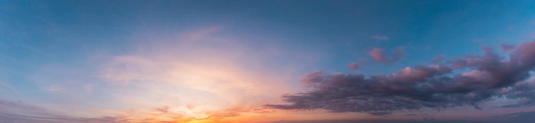 Colorful sunset twilight sky
