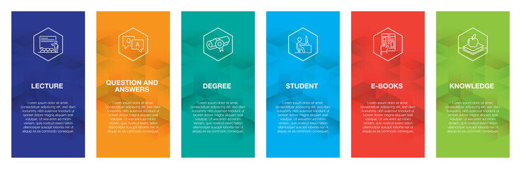 Education Infographic Icon Set