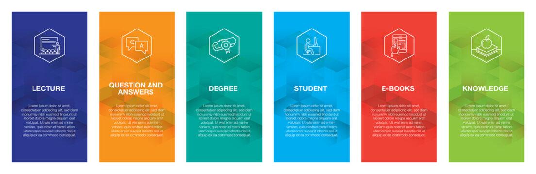Education Infographic Icon Set