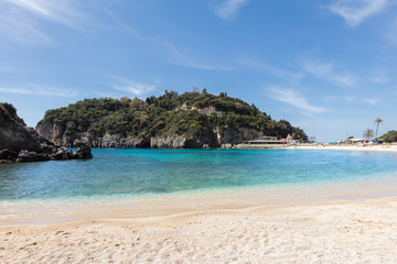 Ionian beach with white sand