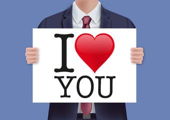 I love you - je t'aime - amour - aimer - déclaration - message - déclarer - annoncer - annonce - présenter
