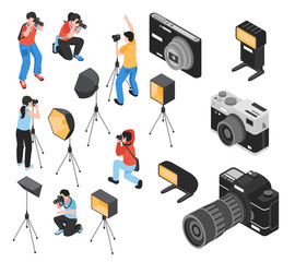 Professional Photographer Isometric Set