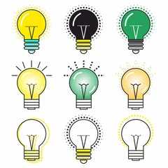 The original icon of a glowing light bulb with different colors