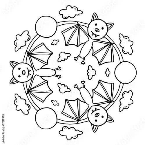 Halloween Mandala Für Kinder Stockfotos Und Lizenzfreie Vektoren