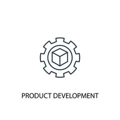 Product development concept line icon. Simple element illustration