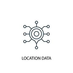 Location Data concept line icon. Simple element illustration
