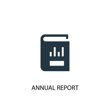 Annual report icon. Simple element illustration