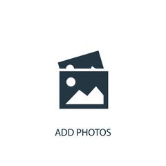 add photos icon. Simple element illustration