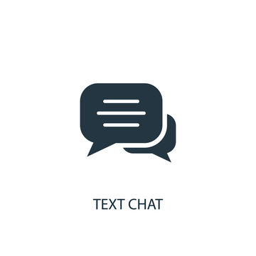 text chat icon. Simple element illustration