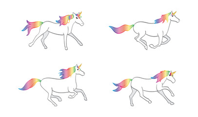 Running Rainbow Unicorn