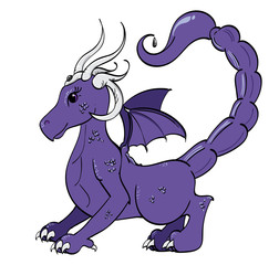 Violet and Silver Scorpion Dragon