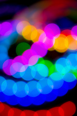 Unfocused circles of light background