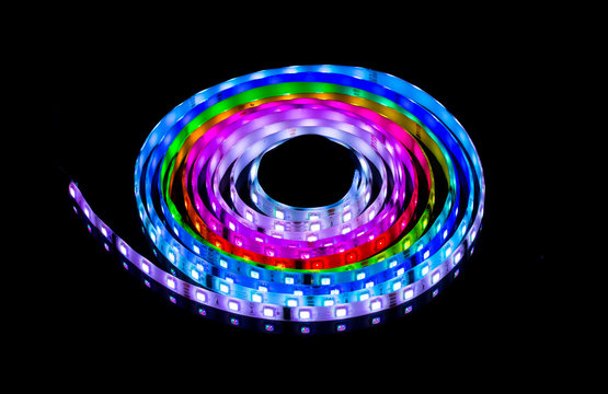 RGB glowing LED garland, strip