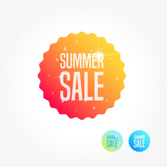 Summer Sale Commercial Shopping Label