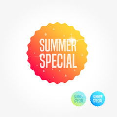 Summer Special Commercial Shopping Label